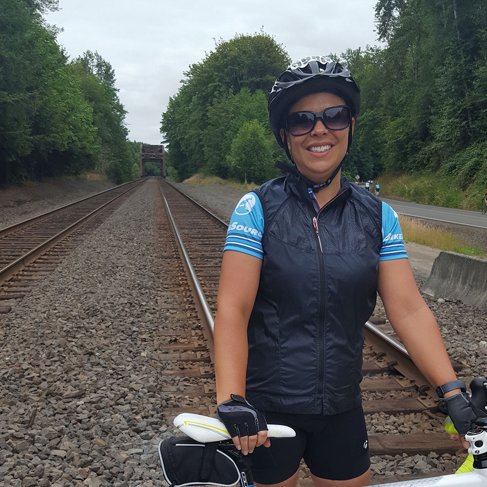 Jennifer Garza - Cycling from Seattle to Portland for a total of 205 miles.