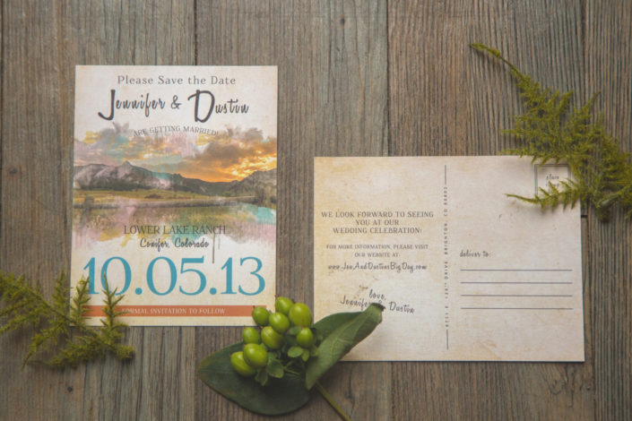Lower Lake Ranch, Pine, Colorado Wedding Stationery Design