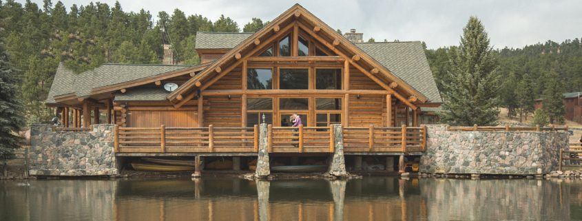 Evergreen Lake House makes a great location for Engagement Shoots.