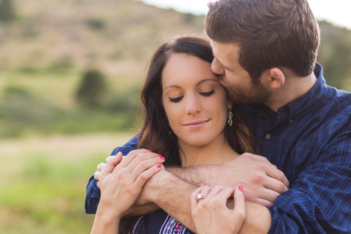 Erika & Sam's Engagement Photography Session at Horsetooth Reservoir, Colorado