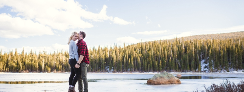 Brainard Lake Engagement Session by Jennifer Garza Photography